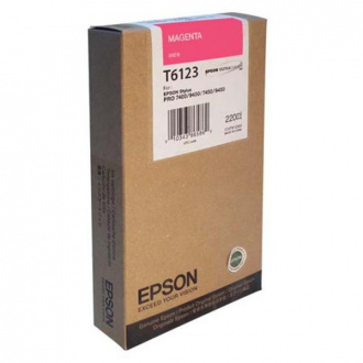 Epson T6123 (C13T612300) - cartridge, magenta (purpurová)