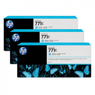HP 771C (B6Y36A) - cartridge, light cyan (svetlo azúrová) 3ks