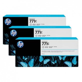 HP 771C (B6Y38A) - cartridge, light gray (svetlo sivá) 3ks