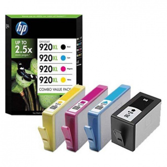 HP 920-XL (C2N92AE#301) - cartridge, black + color (čierna + farebná)