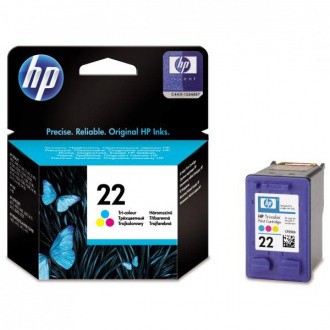 HP 22 (C9352AE#301) - cartridge, color (farebná)