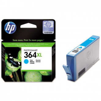 HP 364-XL (CB323EE) - cartridge, cyan (azúrová)
