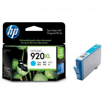 HP 920-XL (CD972AE) - cartridge, cyan (azúrová)