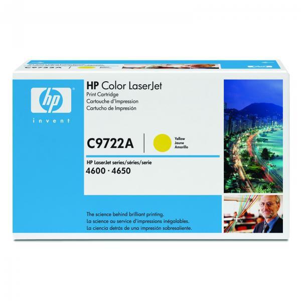 HP C9722A - originálny toner HP 641A, žltý, 8000 strán