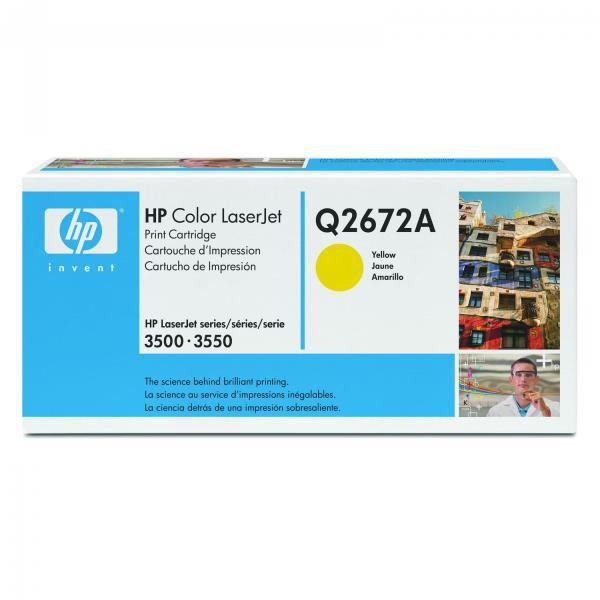 HP Q2672A - originálny toner HP 309A, žltý, 4000 strán