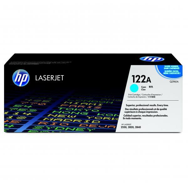 HP originál toner Q3961A, cyan, 4000str., HP 122A, high capacity, HP Color LaserJet 2550, 2820, 2840
