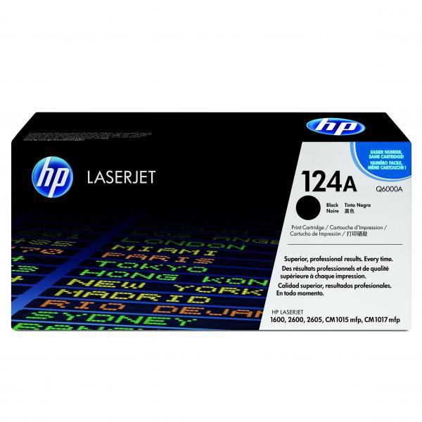 HP originál toner Q6000A, black, 2500str., HP 124A, HP Color LaserJet 1600, 2600n, 2605