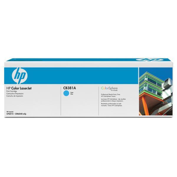HP CB381A - originálny toner HP 824A, azúrový, 21000 strán