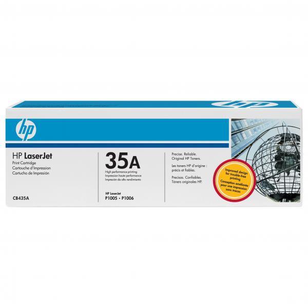 HP CB435A - originálny toner HP 35A, čierny, 1500 strán