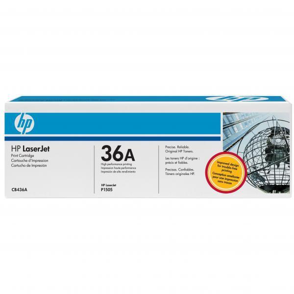 HP originál toner CB436A, black, 2000str., HP 36A, HP LaserJet P1505, M1522n, nf MFP