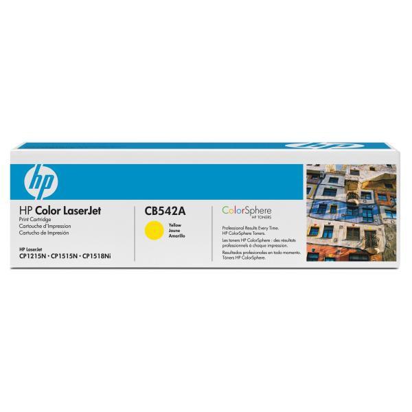 HP CB542A - originálny toner HP 125A, žltý, 1400 strán