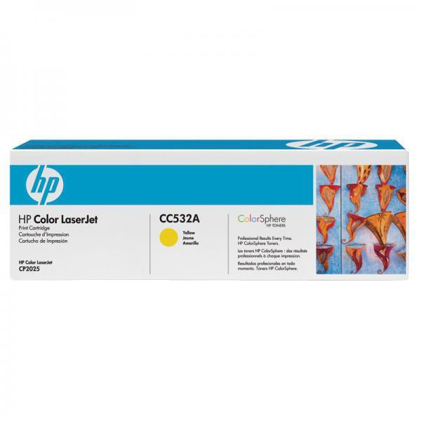 HP CC532A - originálny toner HP 304A, žltý, 2800 strán