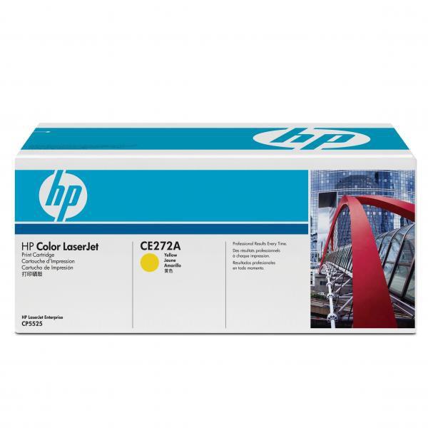 HP CE272A - originálny toner HP 650A, žltý, 15000 strán