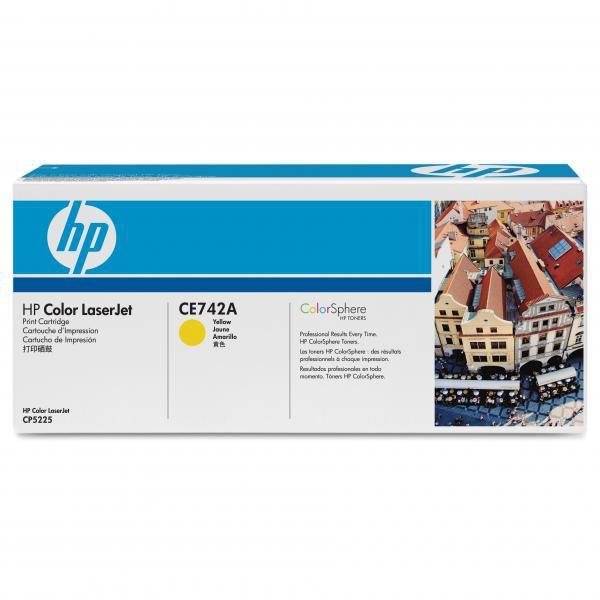 HP CE742A - originálny toner HP 307A, žltý, 7300 strán
