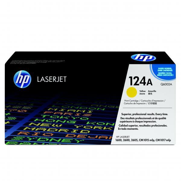 HP originál toner Q6002A, yellow, 2000str., HP 124A, HP Color LaserJet 1600, 2600n, 2605