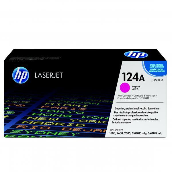HP originál toner Q6003A, magenta, 2000str., HP 124A, HP Color LaserJet 1600, 2600n, 2605