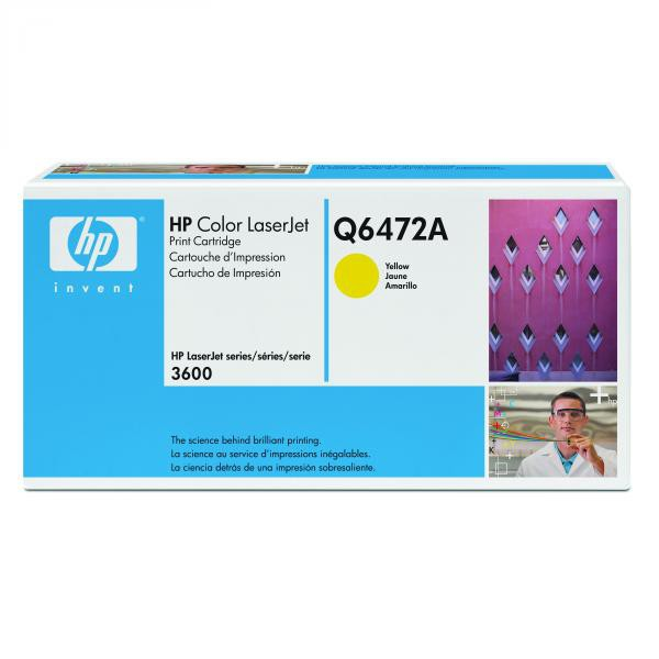 HP originál toner Q6472A, yellow, 4000str., HP 502A, HP Color LaserJet 3600, n, dn, dtn