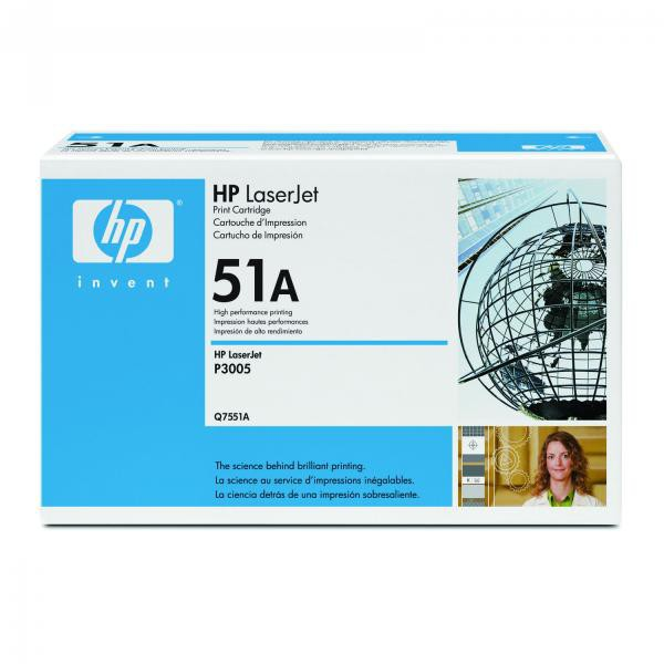 HP Q7551A - originálny toner HP 51A, čierny, 6500 strán