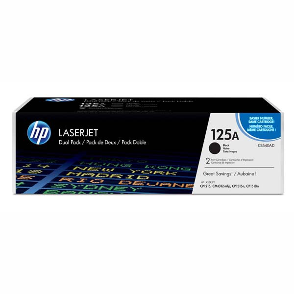 HP CB540AD - originálny toner HP 125A, čierny, 2x2200 2ks