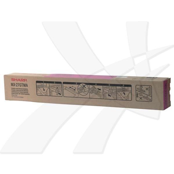 Sharp originál toner MX-27GTMA, magenta, 15000str., Sharp MX-4500N