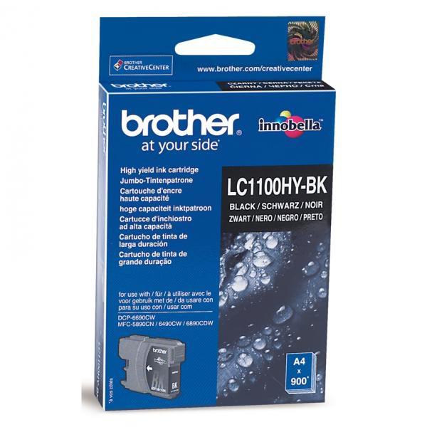BROTHER LC-1100 - originálna cartridge, čierna, 900 strán
