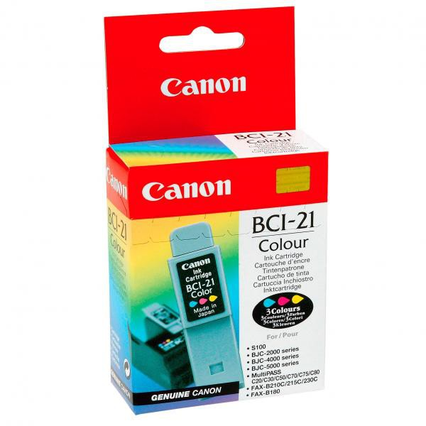 Canon BCI-21 - originálna cartridge, farebná, 15ml