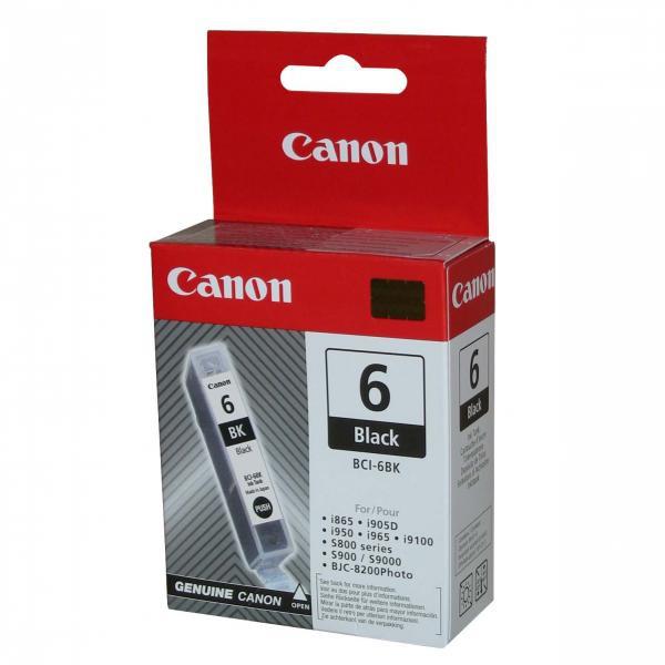 Canon originál ink BCI6BK, black, 280str., 13 4705A002, Canon S800, 820, 820D, 830D, 900, 9000, i950