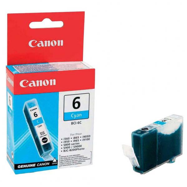 Canon originál ink BCI6C, cyan, 13 4706A002, Canon S800, 820, 820D, 830D, 900, 9000, i950