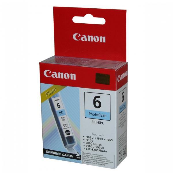 Canon originál ink BCI6PC, photo cyan, 13 4709A002, Canon S800, 820D, 830D, 900, 9000, i950