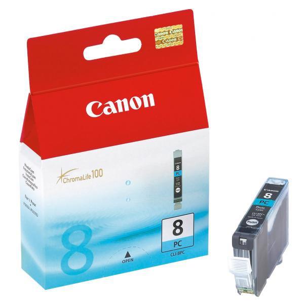 Canon CLI-8 PC - originálna cartridge, foto azúrová, 450 strán