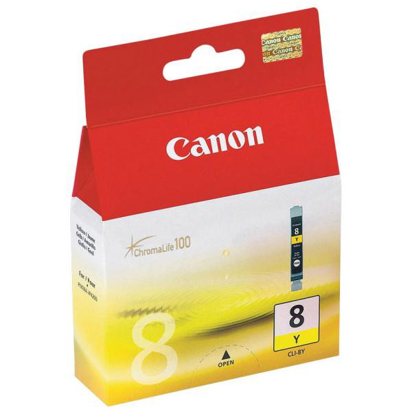 Canon originál ink CLI8Y, yellow, 490str., 13ml, 0623B001, Canon iP4200, iP5200, iP5200R, MP500, MP800