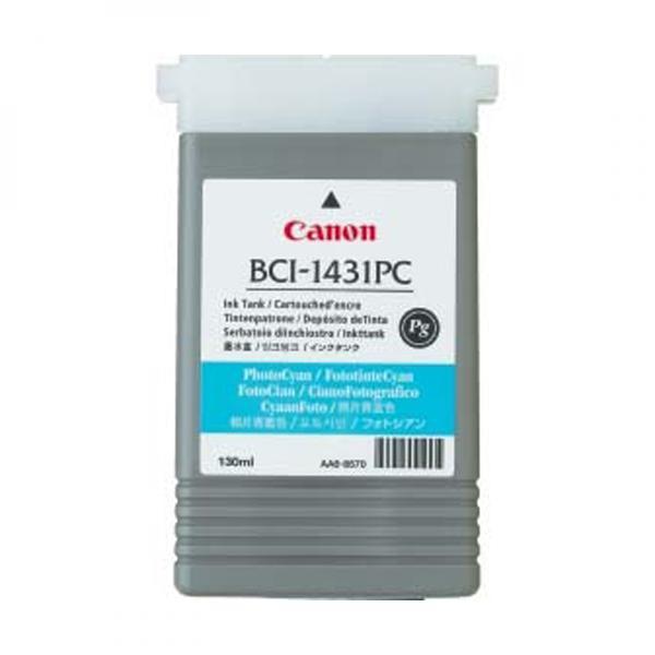 Canon BCI-1431 PC - originálna cartridge, foto azúrová, 130ml