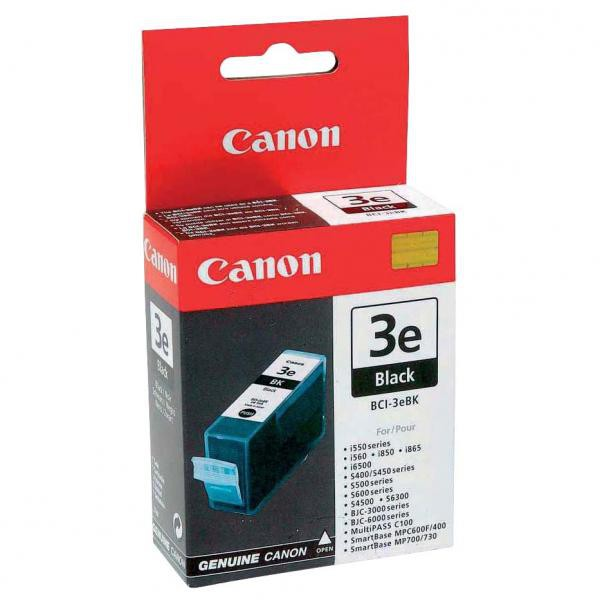 Canon BCI-3 (4479A277) - originálna cartridge, čierna, 27ml
