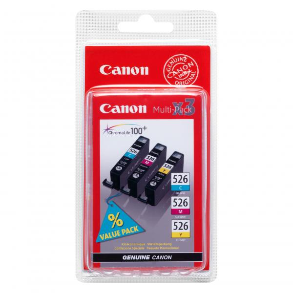 Canon CLI-526 - originálna cartridge, farebná, 3x9ml