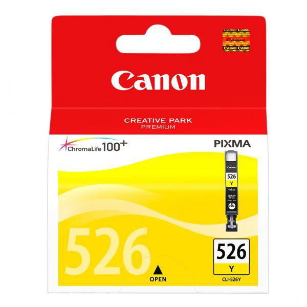 Canon originál ink CLI526Y, yellow, 9ml, 4543B001, Canon Pixma MG5150, MG5250, MG6150, MG8150