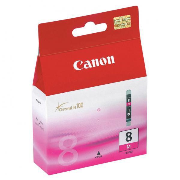 Canon originál ink CLI8M, magenta, blister s ochranou, 420str., 13ml, 0622B026, 0622B006, Canon iP4200, iP5200, iP5200R, MP500, MP