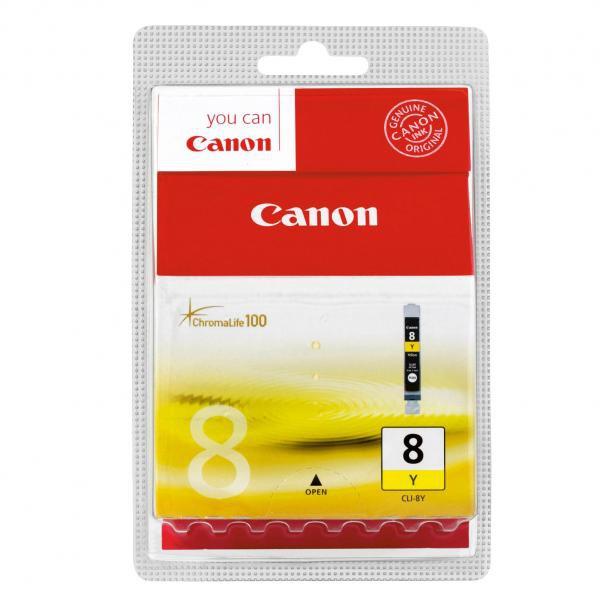 Canon originál ink CLI8Y, yellow, blister s ochranou, 420str., 13ml, 0623B026, 0623B006, Canon iP4200, iP5200, iP5200R, MP500, MP8