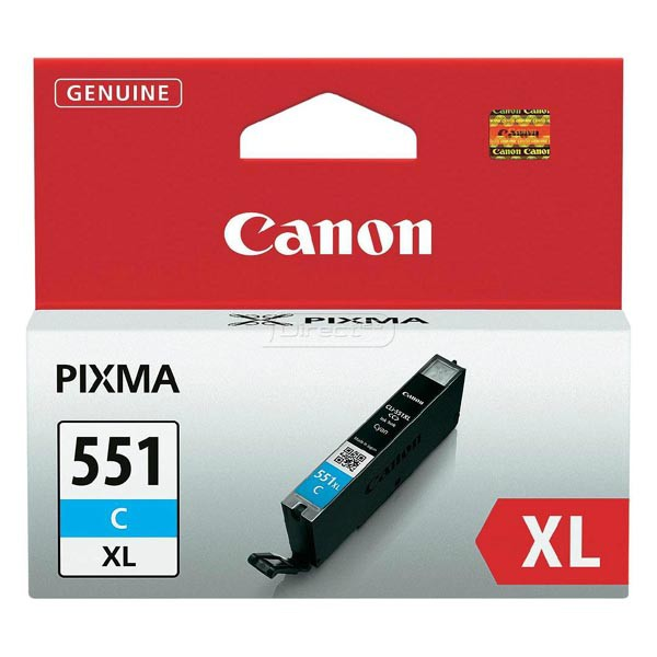 Canon originál ink CLI551C XL, cyan, blister, 11ml, 6444B004, high capacity, Canon PIXMA iP7250, MG5450, MG6350