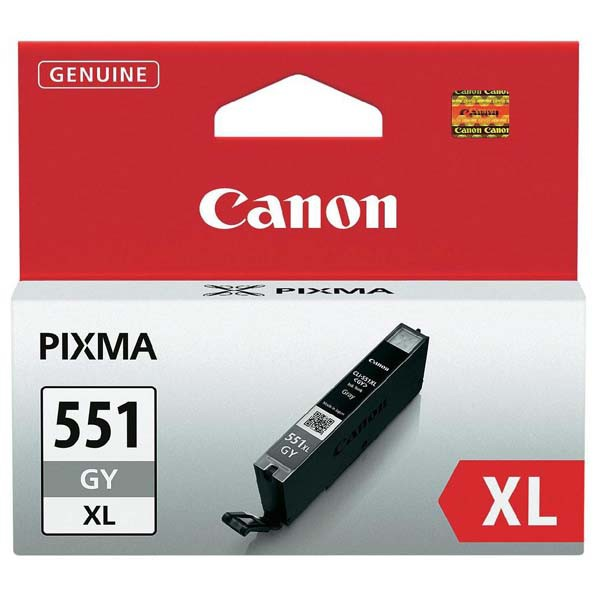 Canon originál ink CLI551GY XL, grey, 11ml, 6447B001, high capacity, Canon PIXMA iP7250, MG5450, MG6350, MG7550