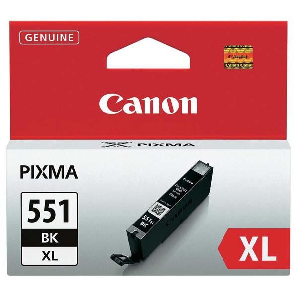 Canon originál ink CLI551BK XL, black, 1130str., 11ml, 6443B001, high capacity, Canon PIXMA iP7250, MG5450, MG6350, MG7550