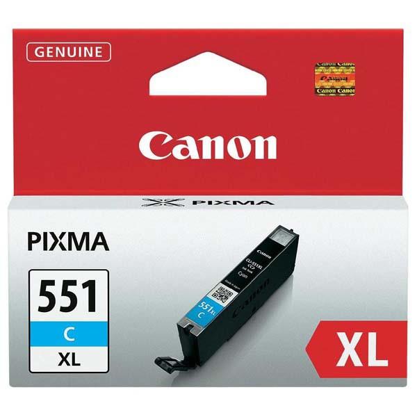 Canon originál ink CLI551C XL, cyan, 11ml, 6444B001, high capacity, Canon PIXMA iP7250, MG5450, MG6350, MG7550