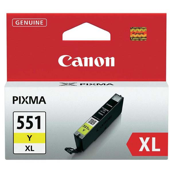 Canon originál ink CLI551Y XL, yellow, 11ml, 6446B001, high capacity, Canon PIXMA iP7250, MG5450, MG6350, MG7550