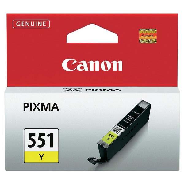 Canon originál ink CLI551Y, yellow, 7ml, 6511B001, Canon PIXMA iP7250, MG5450, MG6350, MG7550