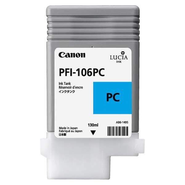 Canon PFI-106 PC - originálna cartridge, foto azúrová, 130ml
