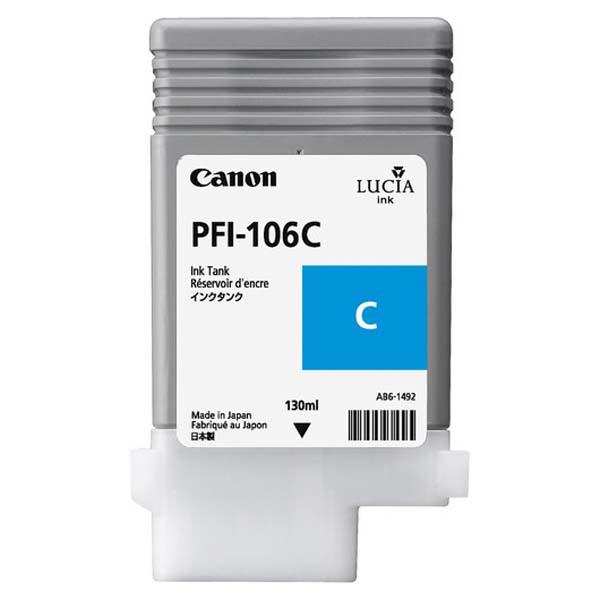 Canon originál ink PFI106C, cyan, 130ml, 6622B001, Canon iPF-6300