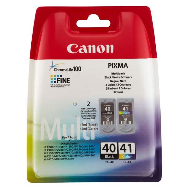 MultiPack Canon PG-40, CL-41 - originálna cartridge, čierna + farebná, 2x16,9ml multipack