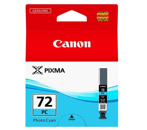 Canon PGI-72 PC - originálna cartridge, foto azúrová, 14ml