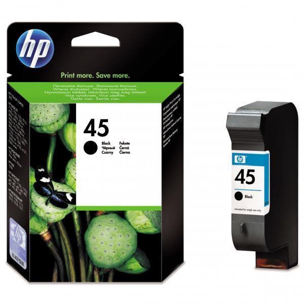 HP 51645AE - originálna cartridge HP 45, čierna, 42ml