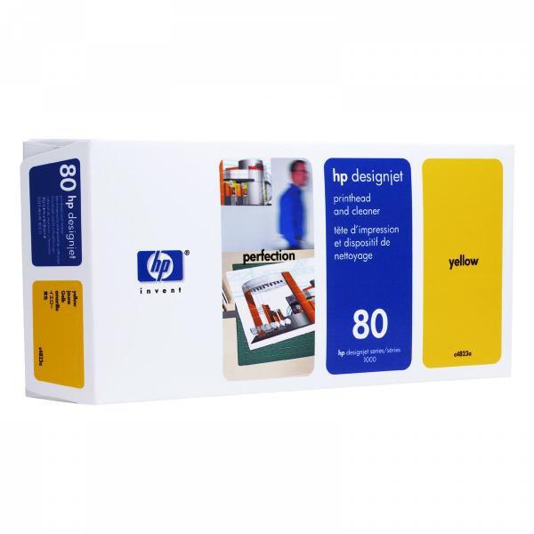 HP originál tlačová hlava C4823A, HP 80, yellow, HP DesignJet 1050C, 1055CM