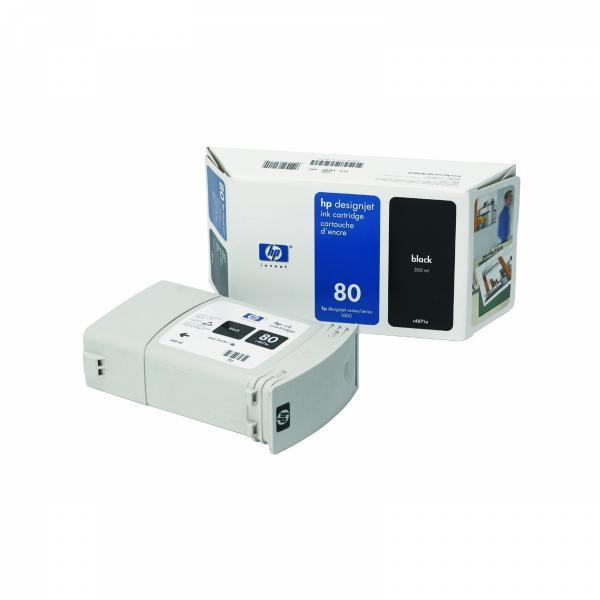 HP C4871A - originálna cartridge HP 80, čierna, 350ml